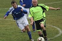 Z fotbalového utkání I.B třídy Kouřim - Zbraslavice (1:0)