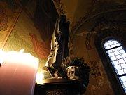Interirér baziliky Nanebevzetí Panny Marie v Gruntě.