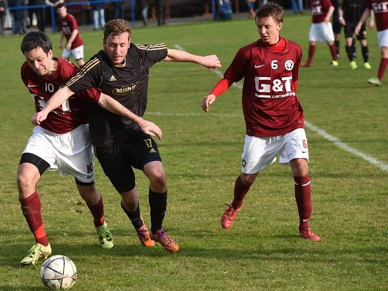 Z utkání Polepy - B. Poděbrady (4:1).