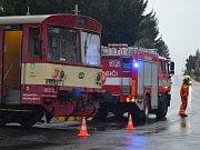 V Radimi srazil vlak muže, provoz na trati byl přerušený.