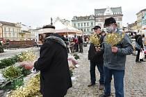 Vánoční trhy na Karlově náměstí v Kolíně.