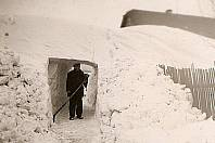 Zima v roce 1942 v Rožmitále pod Třemšínem.