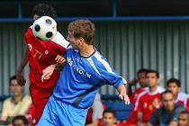 Z přátelského utkání FK Kolín - Al Fujiarah (1:3).