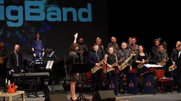 Z vystoupení Kolínského Big Bandu v Městském divadle v Kolíně.