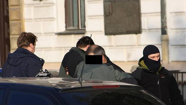 Zatýkání na kolínském náměstí