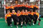Žáci kolínského házenkářského klubu.