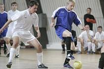 Z utkání futsalové divize SKP Kolín - Slaný (1:5).