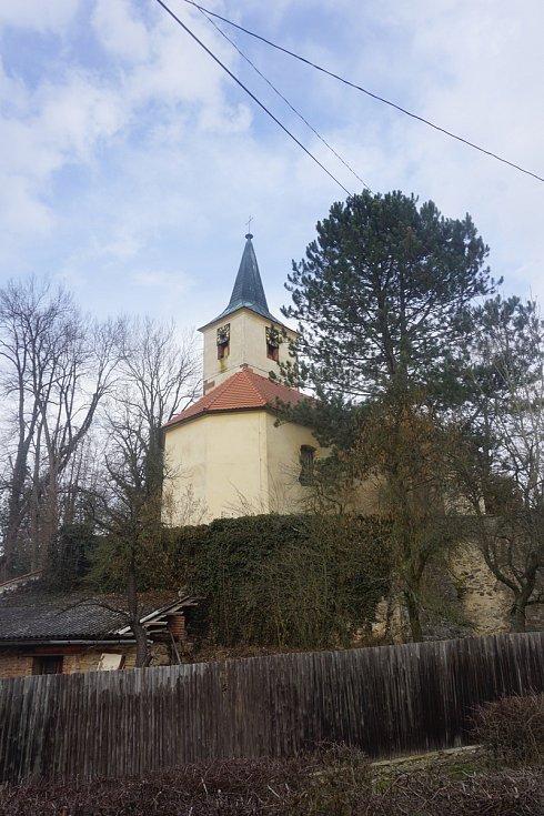 Kostel v Sázavě - reálný pohled