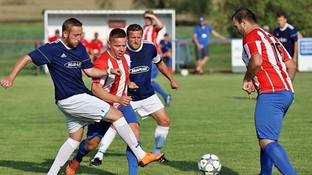 Z utkání Liblice - Tři Dvory (4:0).