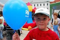 Mezinárodní den dětí oslavily děti na kolínském náměstí