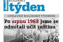 Titulní strana třicátého třetího čísla týdeníku Kolínský týden.