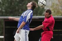 Z okresního derby fotbalové I.B třídy Tuchoraz - Velim B (0:1)