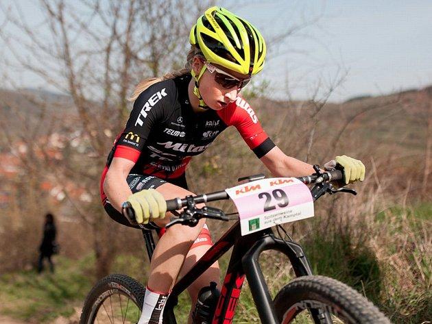 Jana Czeczinkarová dojela v rakouském Langenlois na čtvrtém místě.