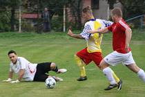 Z utkání Krakovany - Libodřice (1:3).