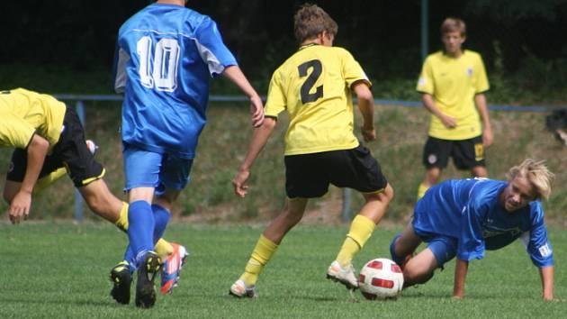 Z utkání FK Kolín U16 - Sparta Praha (1:5).