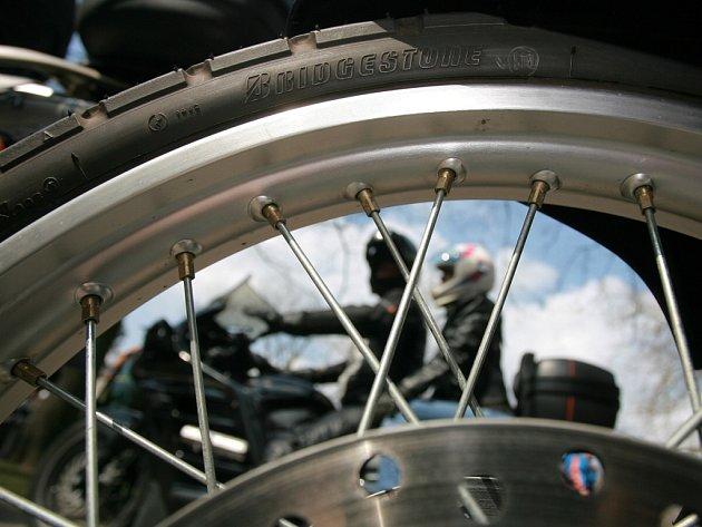Sobotní setkání motorkářů v Poděbradech