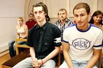Martin Zimmermann (vlevo) a František Takács před kutnohorským soudem.