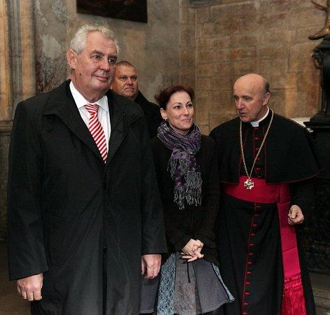 Prezident Miloš Zeman při návštěvě Kutné Hory.