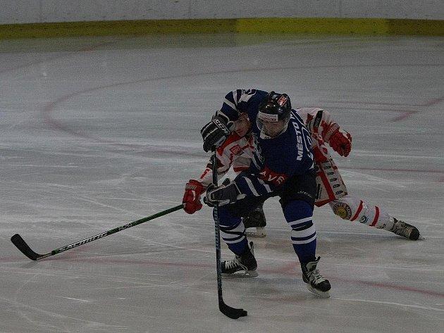 Z utkání SC Kolín - Pelhřimov (5:4 pp).