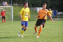 Z přípravného fotbalového utkání Kolín - Benešov (2:1)