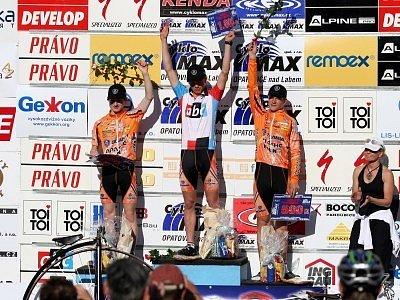 Tohle je pro Kolín vysněný pohled. Všechna tři místa na stupních vítězů obsadili jeho závodníci.