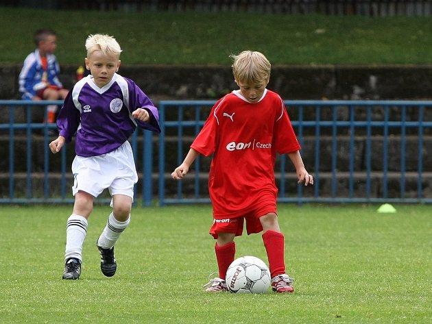 Z krajského finále mladší přípravky, které se hrálo na hřišti FK Kolín.