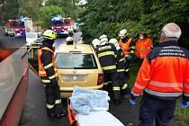 Dopravní nehoda v Mlékovicích.