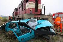 Srážka vlaku a favorita u Toušic. 22. října 2008