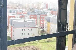 Pohled z okna kolínské vodárny. Archivní foto.