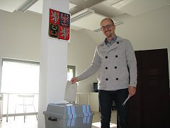 Marek Semerád u krajských voleb