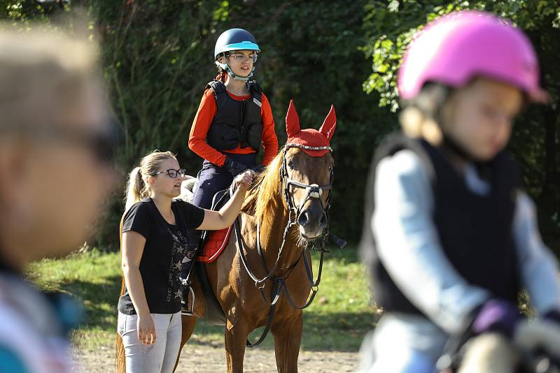 Ze Svatováclavského jezdeckého derby v úterý 28. září 2021.