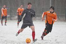 Z přípravného utkání kolínského Zimního turnaje Kolín - Polepy (2:1 po penaltách).