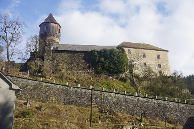 Hrad Pirkštejn - reálný pohled