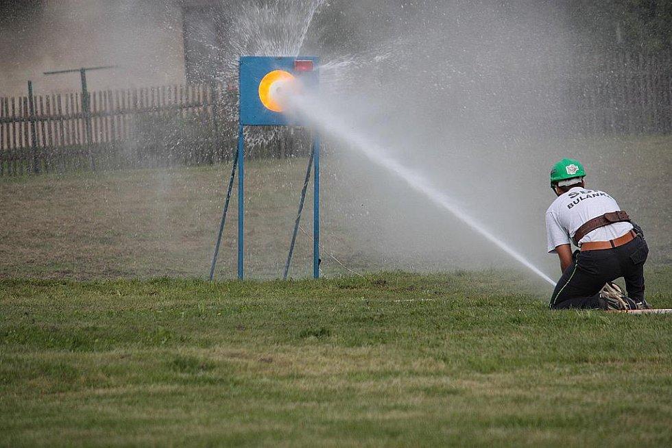 Závody dobrovolných hasičů na Bulánce