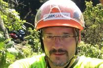 Arborista Petr Ledvina.