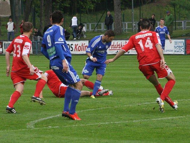 Z utkání FK Kolín - Králův Dvůr (2:1).