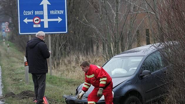 Automobilová nehoda u Českého Brodu
