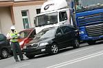 Dopravní nehoda v Pražské ulici v Kolíně
