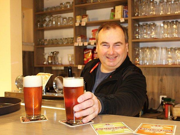 Majitel starokolínského pivovaru Roman Charvát.