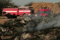 U Křečhoře hořel stoh slámy