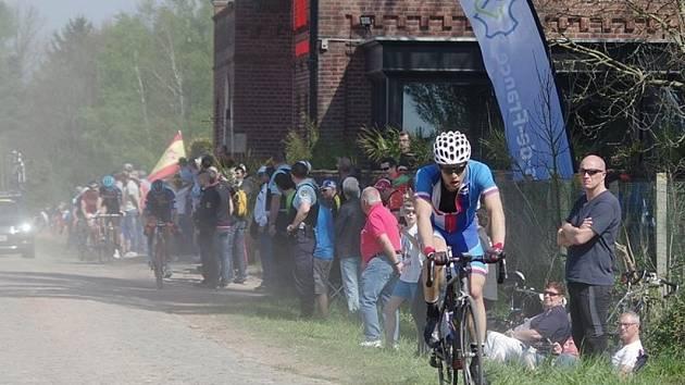 Kryštof Solař na slavném závodě Paříž - Roubaix.