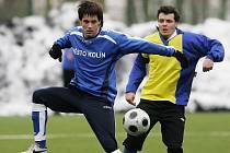 Z přípravného utkání FK Kolín - Benešov (1:2).