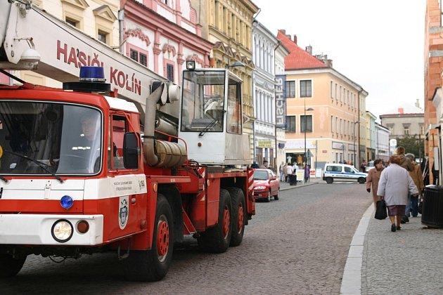 Zásah hasičů v Pražské ulici
