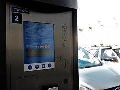 Parkovací automaty v Kolíně.