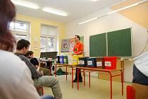 Tonda Obal v českobrodské škole