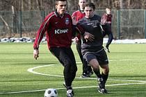Z utkání kolínského zimního fotbalového turnaje Kutná Hora - Polepy (2:0).