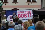 Z protibabišovské demonstrace v Českém Brodě.