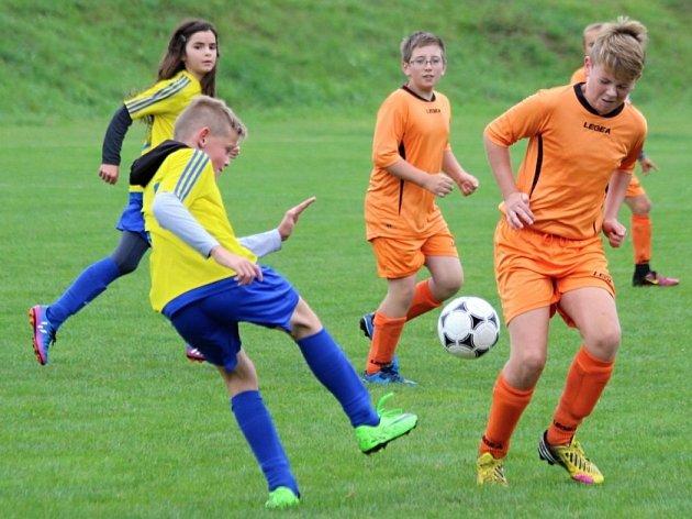 Z utkání okresního přeboru mladších žáků skupiny A Rostoklaty - Tuklaty (0:1).