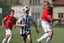 Z utkání Velim - Ústí nad Orlicí (0:0).