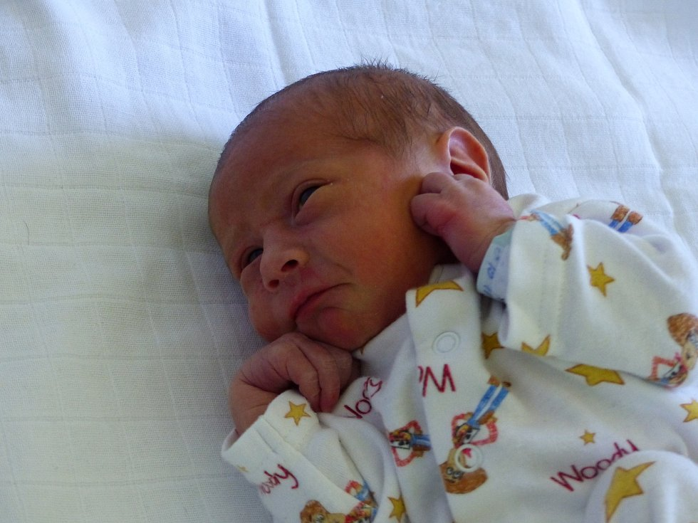 Marek Králík se narodil 3. května 2018 a vážil 2830 gramů. V Kolíně bude bydlet s maminkou Denisou a tatínkem Markem.
